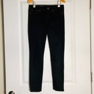 "J Crew 8"" Toothpick Jean in Black"